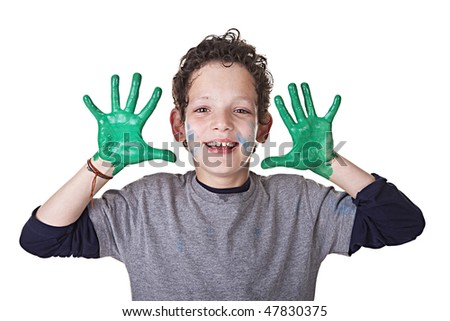 Happy and funny Kid - stock photo