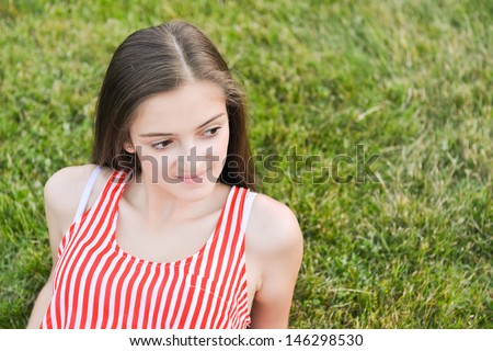 Happy and healthy woman relaxing - stock photo