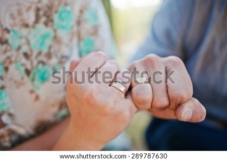 Happy and positive couple in autumn love story - stock photo