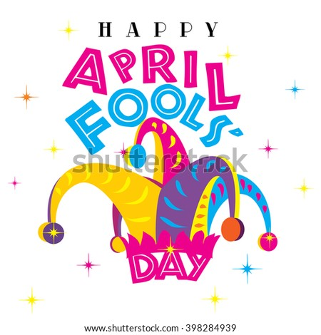 happy april fools day on white stock illustration 398284939 rh shutterstock com april fools day clip art photos april fool's day clipart free