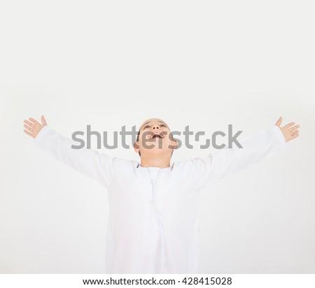 Happy Arab boys - stock photo