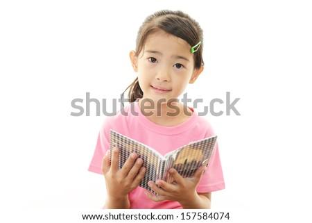 Happy Asian girl smile - stock photo