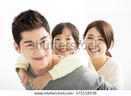 Happy Attractive Young asian Family Portrait - stock photo