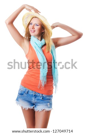 Happy attractive young woman ready for summer vacation