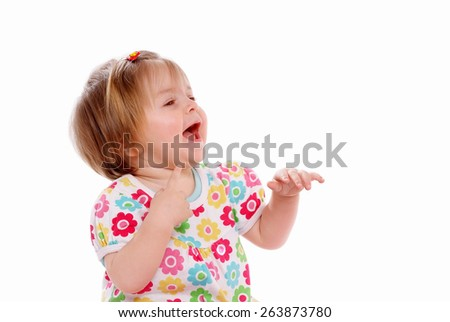 Happy baby Happy baby with the arms raised - stock photo