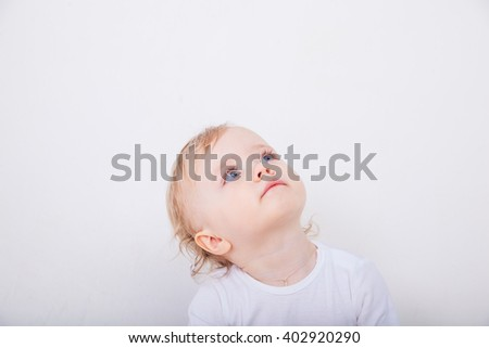 Happy baby isolated on white 1 2