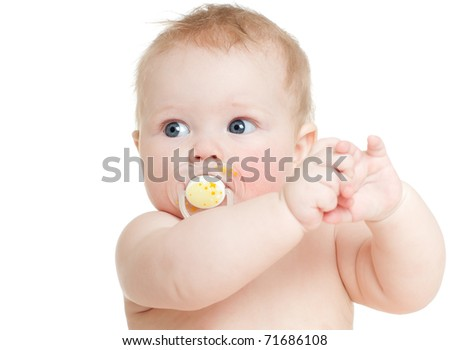 happy baby, on white background