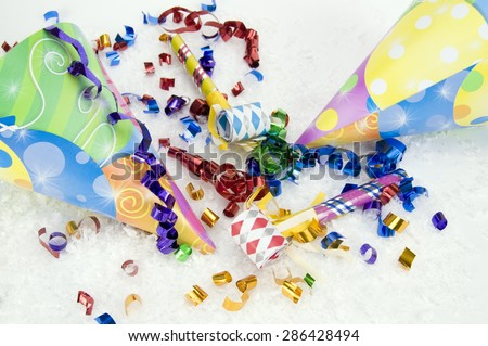 Happy Birthday and Celebration Hats  - stock photo