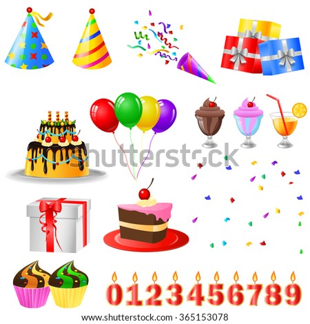 Happy Birthday and Party Set