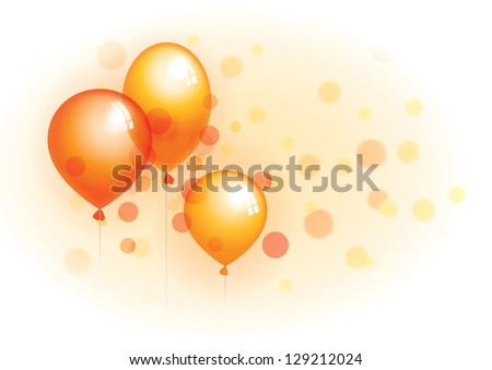 happy birthday balloons - stock photo