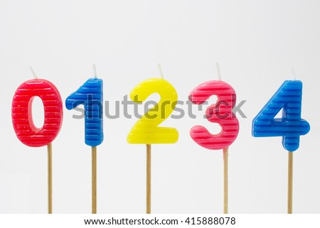 happy birthday candle number