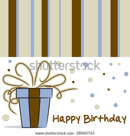 Vector Happy Birthday Card Layout Stripes Vector 28060735 – Birthday Card Layout
