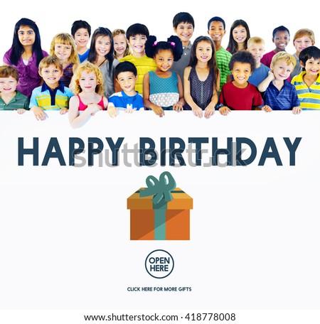 Happy Birthday Event Occasion Anniversary Concept - stock photo
