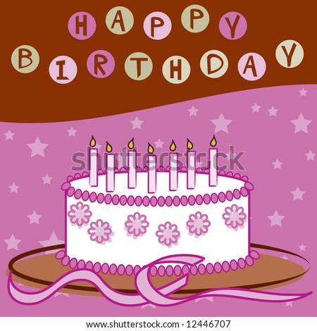 Happy Birthday (Girl) - stock photo