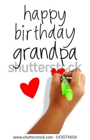 Happy Birthday Grandpa Greeting Card Stock Photo Edit Now
