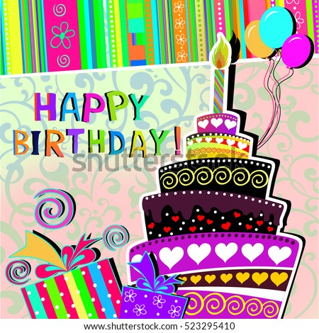 Happy birthday greeting card background stock illustration 523295410 happy birthday greeting card background m4hsunfo