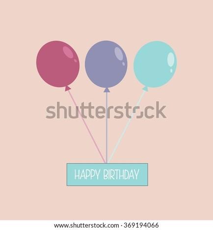 Happy birthday greeting card cute birthday stock illustration happy birthday greeting card cute birthday card m4hsunfo