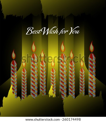 Happy birthday greetings candles  - stock photo