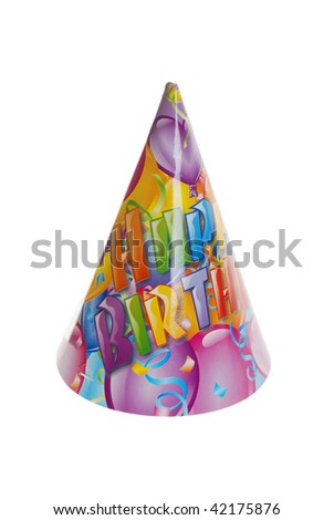 happy birthday hat - stock photo