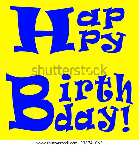 happy birthday illustration yellow background
