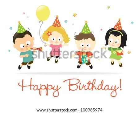 Happy Birthday kids 2 - Jpeg - stock photo