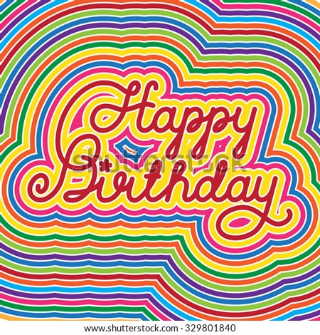 Happy Birthday lettering - stock photo