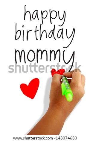 Happy birthday mom greeting card stock photo edit now 143074630 happy birthday mom greeting card m4hsunfo