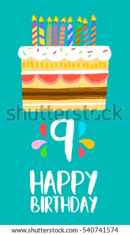 9th Birthday Stock Images Royalty Free Images Amp Vectors