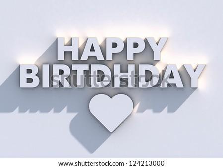 Happy Birthday Typographic Poster - stock photo