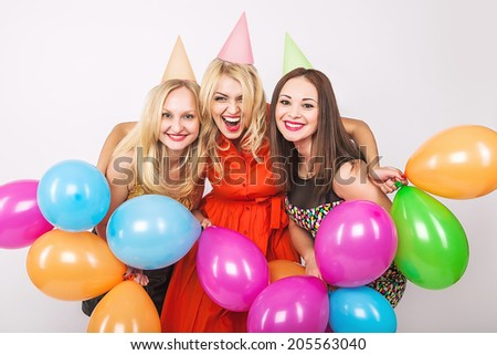 Happy birthday women party - stock photo