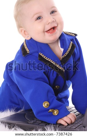 happy business baby - stock photo