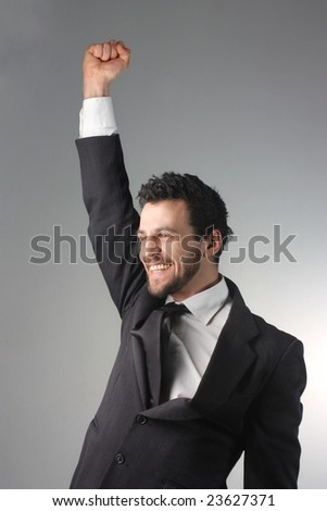 happy business man - stock photo