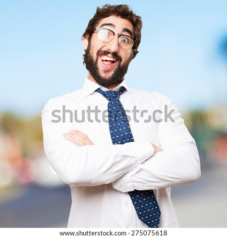 happy businessman - stock photo
