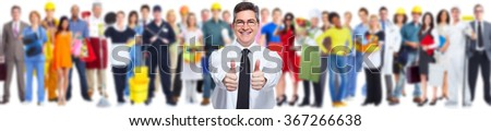 Happy businessman. - stock photo