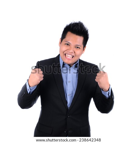 happy businessman of his success - stock photo