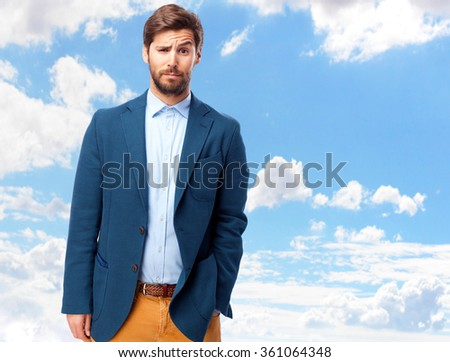 happy businessman proud pose