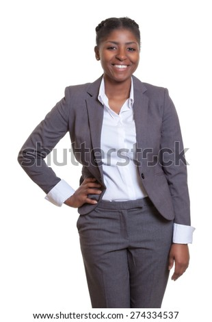 Happy businesswoman from Africa