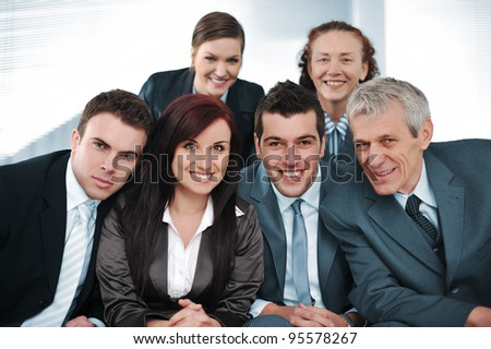 Happy  bussiness people - stock photo