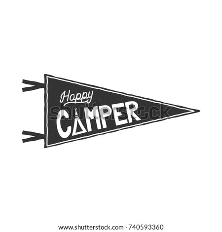 College football pennant banner icon sport stock vector 343316174 happy camper pennant template typography design and outdoor activity symbol tent monochrome pronofoot35fo Images