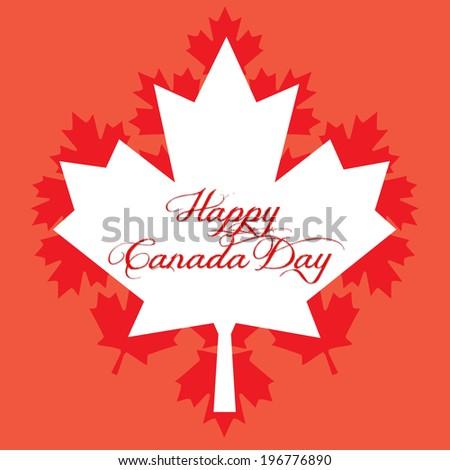 Happy Canada Day - stock photo