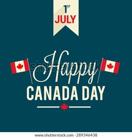 Happy Canada Day. - stock photo
