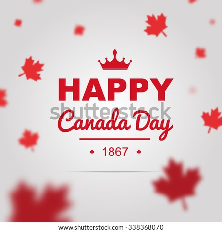 Happy Canada Day poster. 1st of July  with 3D effect. - stock photo