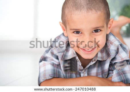 Happy cheerful child - stock photo