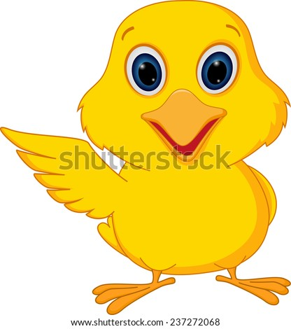 Happy chick cartoon  - stock photo