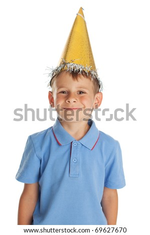 Happy child in a festive hat