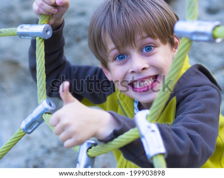 happy child in the park - stock photo