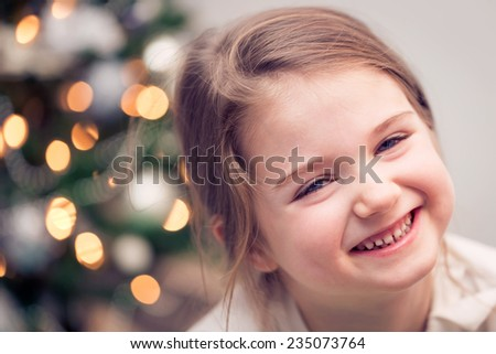 Happy child on Christmas - stock photo
