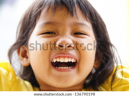 happy child portrait - stock photo