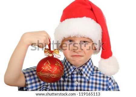 Happy child with Christmas decorations