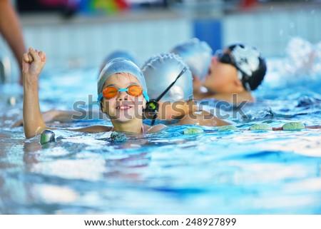 Happy Children Kids Group Swimming Pool Stock Photo Royalty Free 248927899 Shutterstock